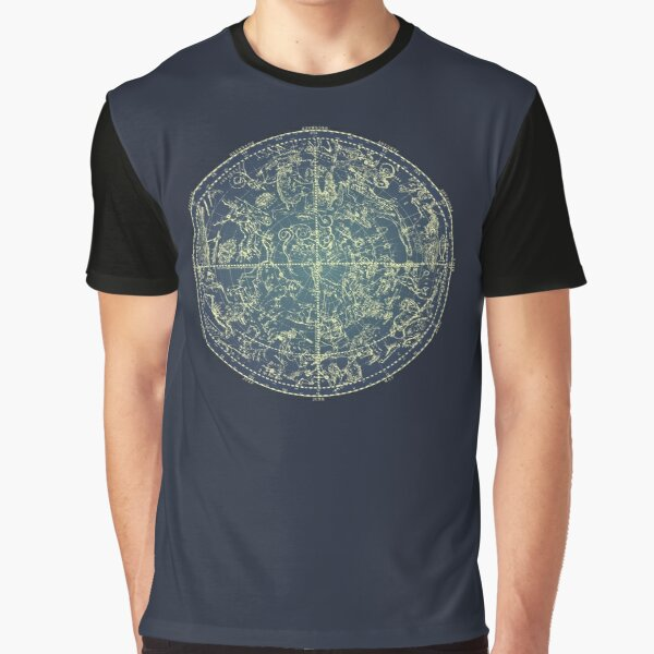 Antique Constellation of Northern Stars 19th Century Astronomy Graphic T-Shirt