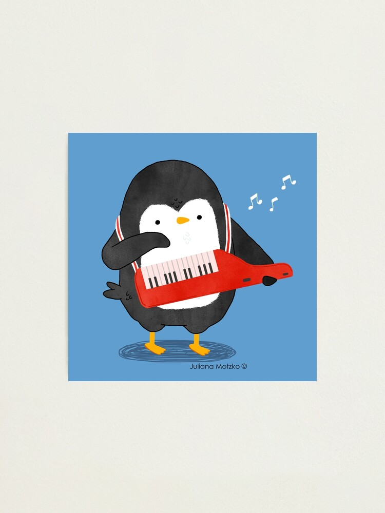 Alternate view of Keyboarder Penguin Photographic Print