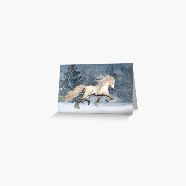 Winter Storm .. the stallions tale Greeting Card