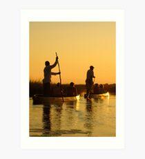 Okavango Sunset Art Print