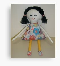 Handmade rag doll - Macey Canvas Print