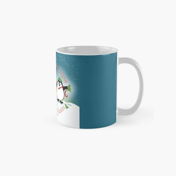 Wrapping up Warm Wishes for the Holiday Season by Penguins Classic Mug