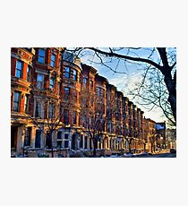 Sugar Hill Brownstones Photographic Print