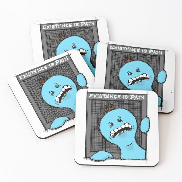 Existence is Pain  Coasters (Set of 4)