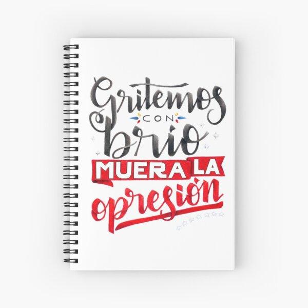 Gritemos con brio Venezuela Spiral Notebook