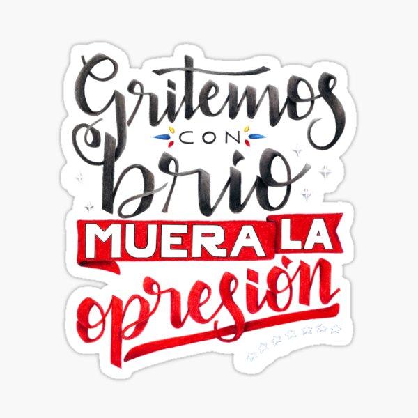 Gritemos con brio Venezuela Sticker