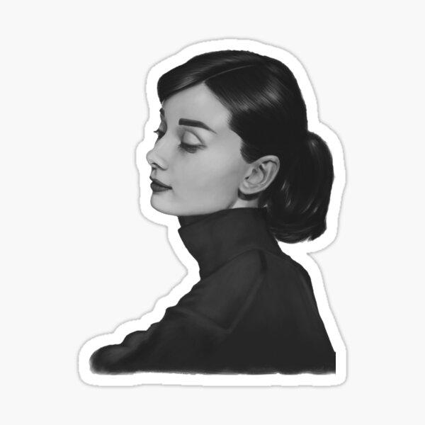 Audrey Hepburn Pegatina