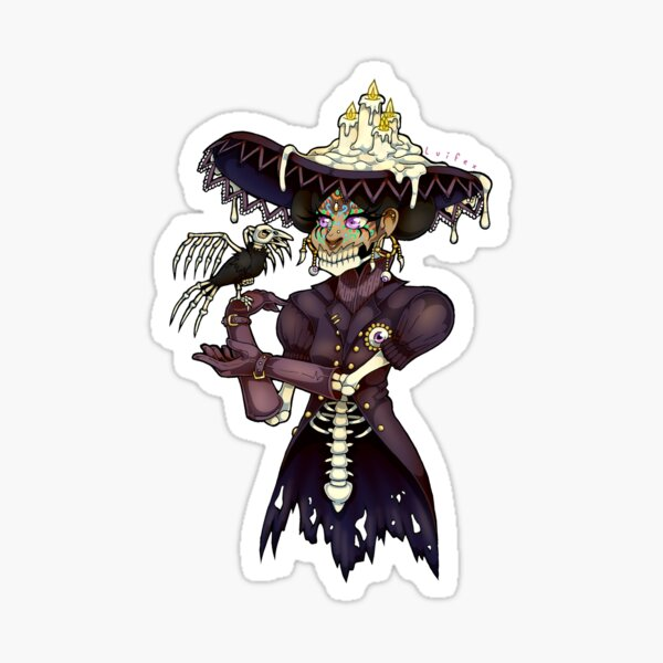 Day of the dead lady Sticker