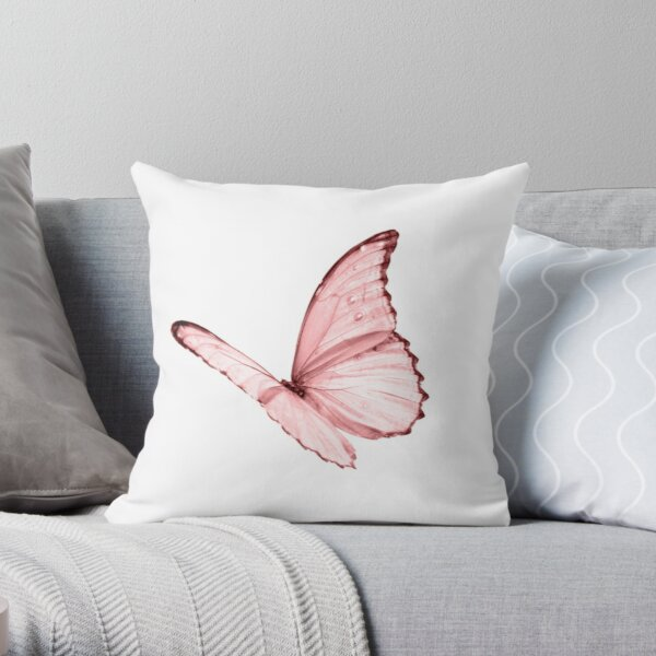 Pink butterfly available in many products Throw Pillow