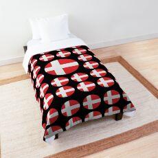 Denmark Emoji JoyPixels Love Danish Comforter