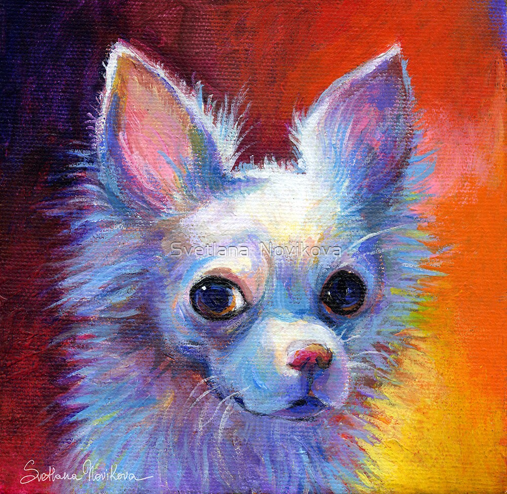 Whimsical chihuahua dog painting svetlana novikova by for Painting of your dog