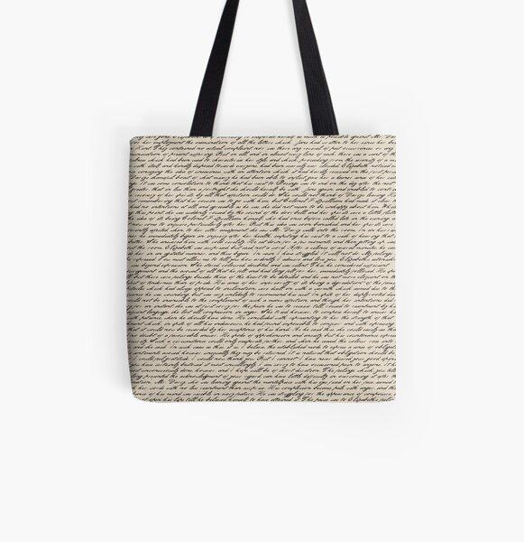 Literature in Print: Pride and Prejudice All Over Print Tote Bag