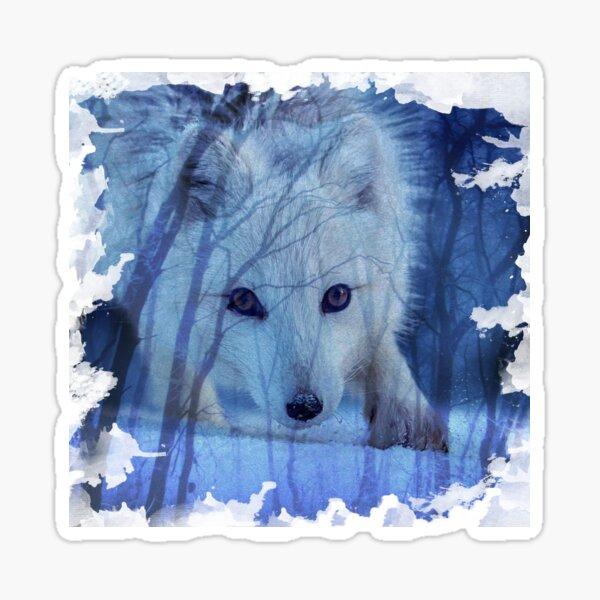 fox in the mist Sticker