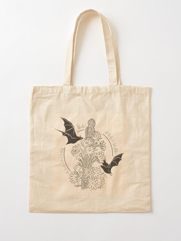 Alternate view of Night Bloom - Bat Tote Bag