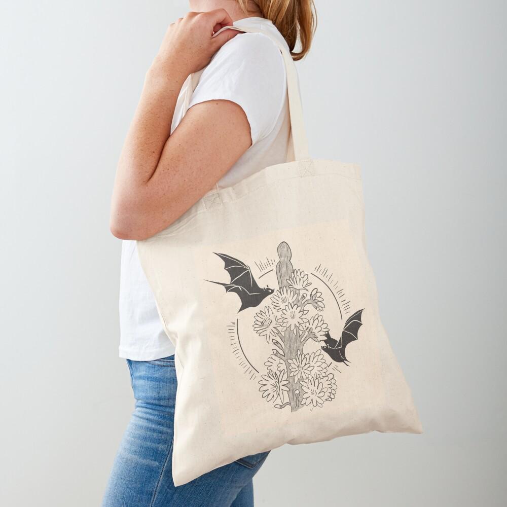 Night Bloom - Bat Tote Bag