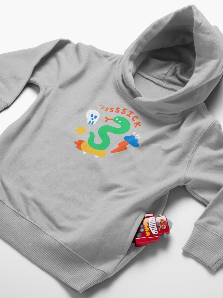 Alternate view of Skate Snake Toddler Pullover Hoodie