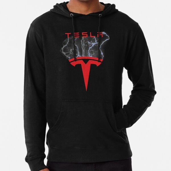 Tesla Inspired Lightning Logo Lightweight Hoodie