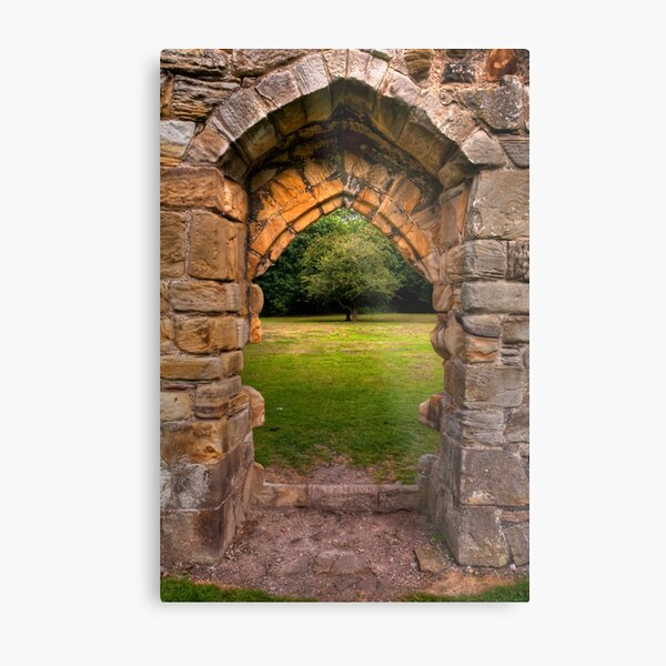 Old stone abbey archway Metal Print
