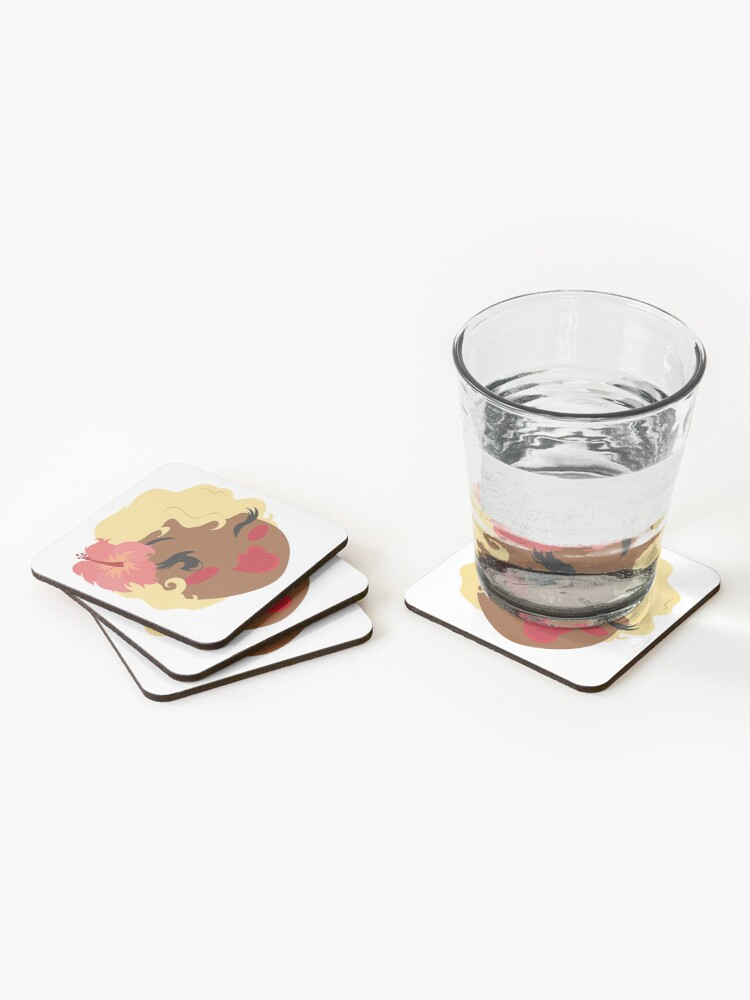 Alternate view of Pincurls & Parasols Private Listing Coasters (Set of 4)