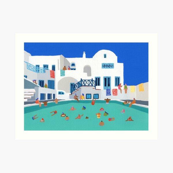 When in Santorini Art Print