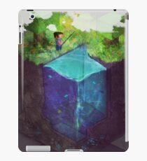 Fishing for blocks iPad Case/Skin