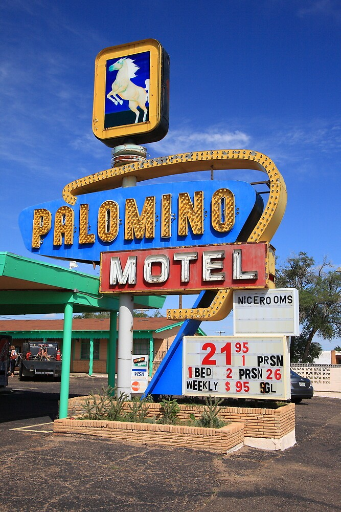 Route 66 - Tucumcari, New Mexico by Frank Romeo