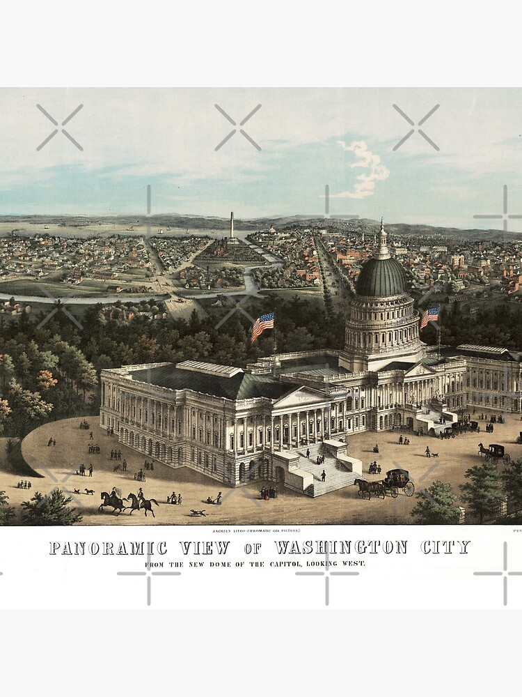 19th century bird's eye view of Washington by DC-Confidential