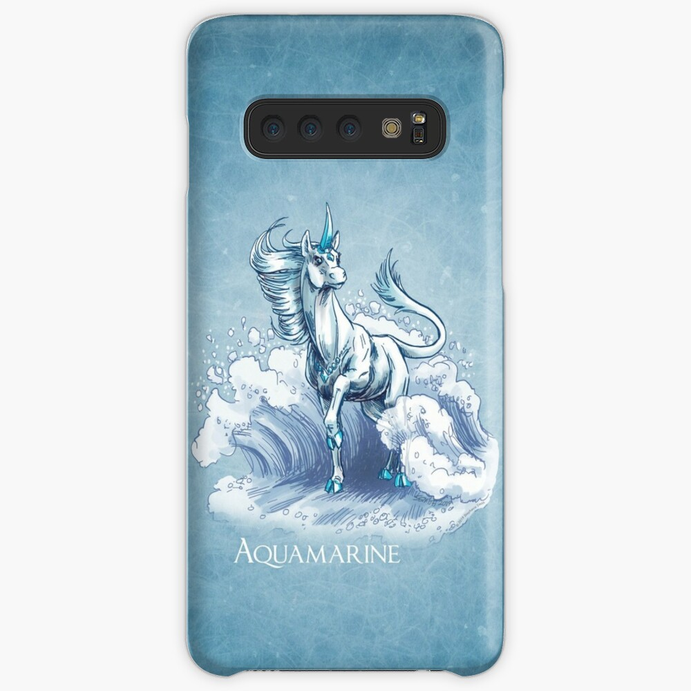 March Birthstone Unicorn: Aquamarine Gemstone Fantasy Art Case & Skin for Samsung Galaxy