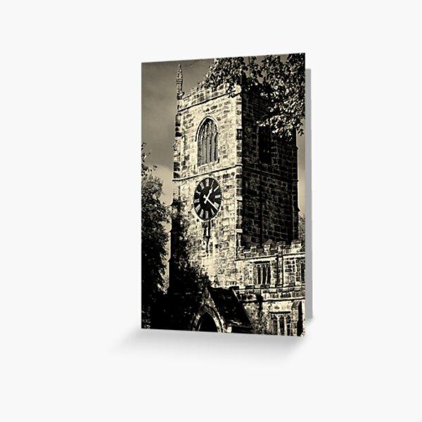 Clock Tower at Skipton Church Greeting Card