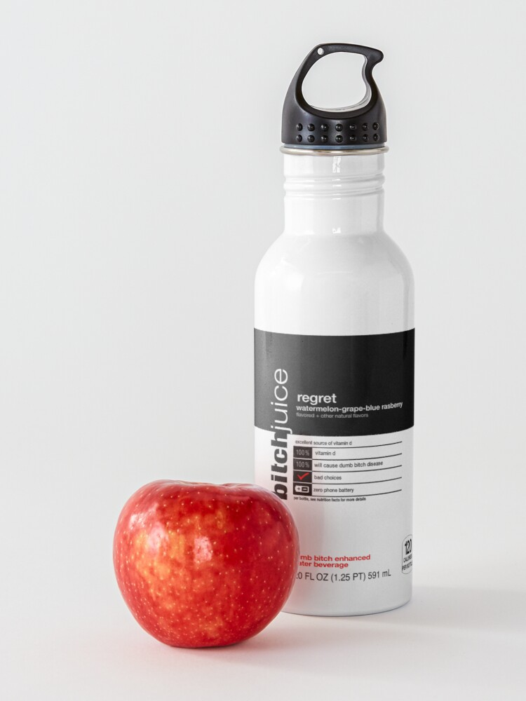 Alternate view of dumb bitch juice-regret Water Bottle