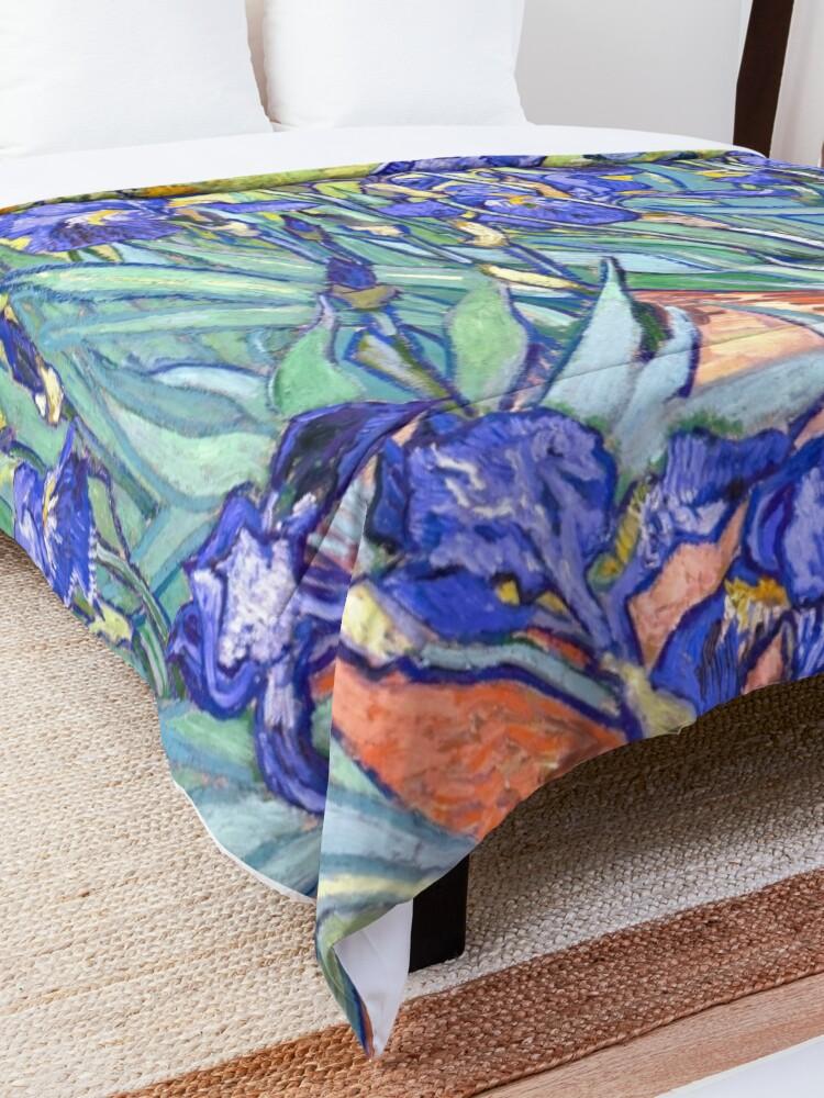 Alternate view of Vincent Van Gogh Irises Comforter