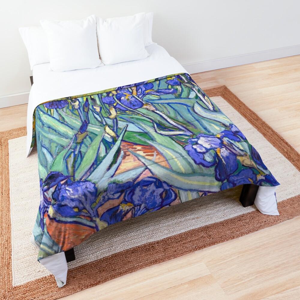 Vincent Van Gogh Irises Comforter