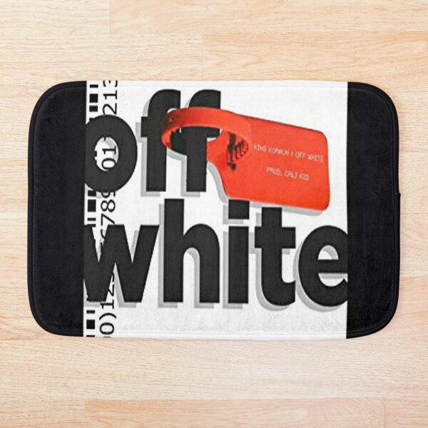 White Off Lock Bath Mat