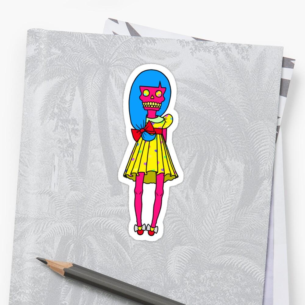Cute Little Skull Girly by Angel Szafranko