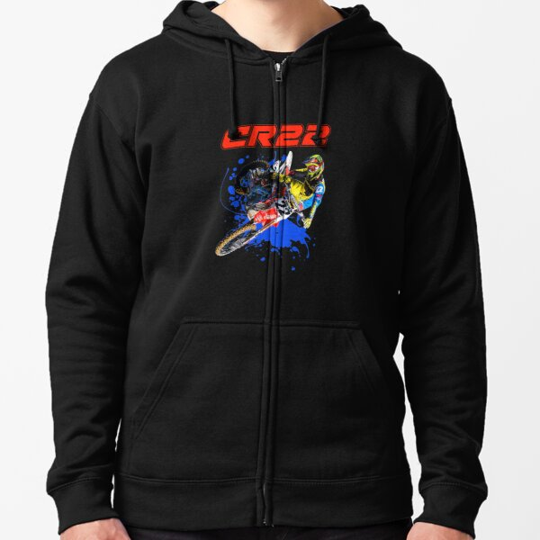Chad Reed 22 Motocross and Supercross Champion CR22 Dirt Bike Gift Design Zipped Hoodie