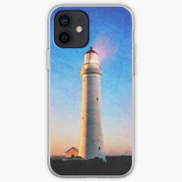Cape Nelson Lighthouse Australia Watercolor Painting  iPhone Soft Case