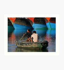 Chinese Boats Art Print