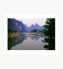 Fine art of Li River, China Landscape Art Print