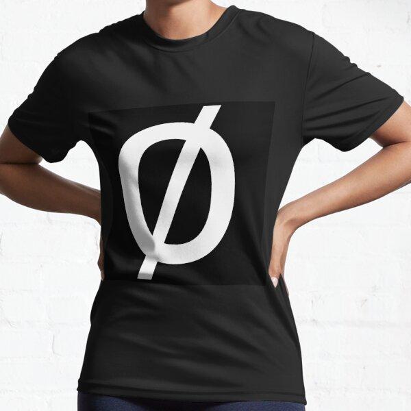 """Empty Set - Unicode Character """"∅"""" (U+2205) Active T-Shirt"""