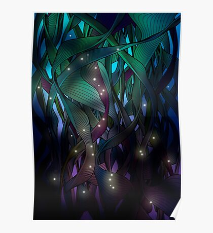 Nocturne (with Fireflies) Poster