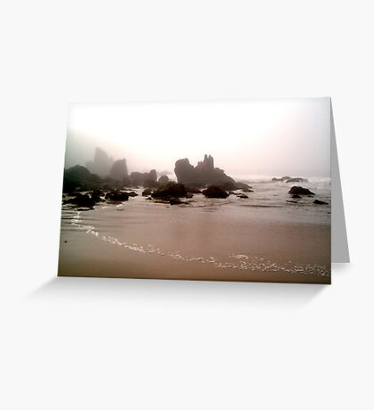 Dreary Morning by the Sea Greeting Card