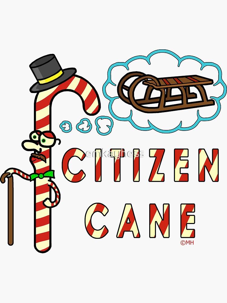 Citizen Cane Christmas Candy Cane Pun by emkayhess