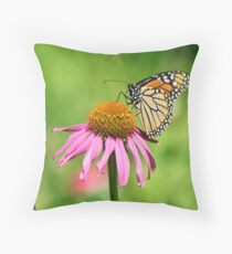 Monarch Butterfly - Danaus Plexippus Throw Pillow