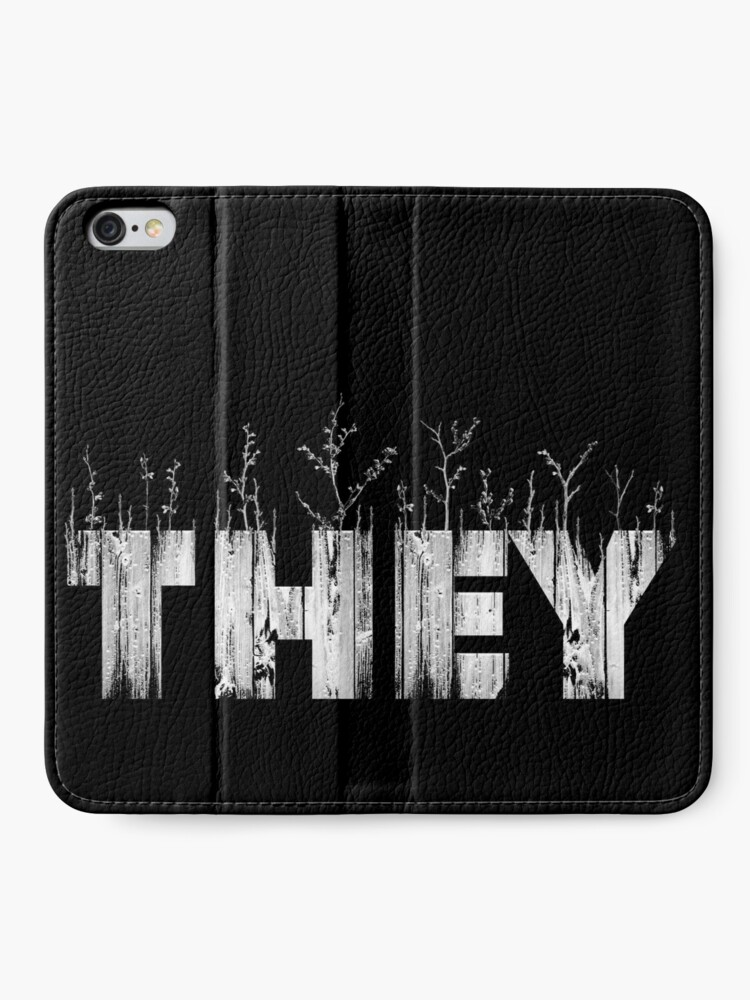 Alternate view of My Pronouns Give Me Life: THEY iPhone Wallet