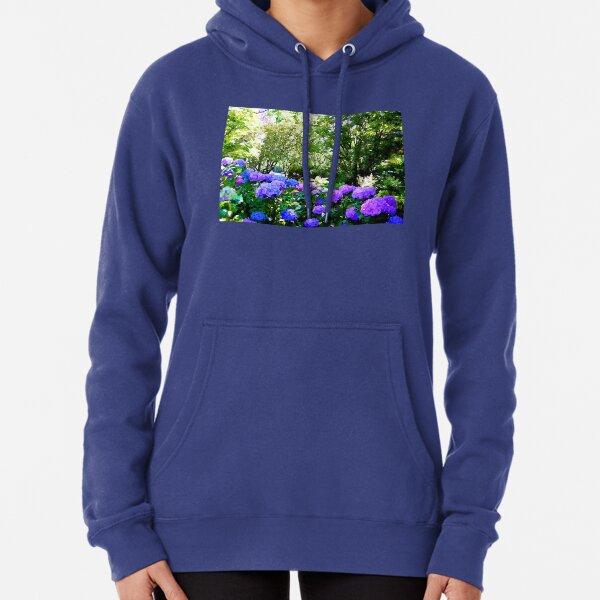 Watercoloured Hydrangeas Pullover Hoodie