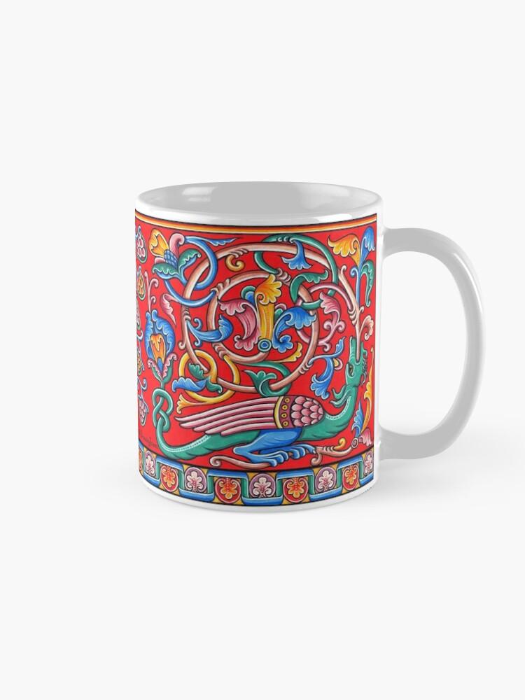 Alternate view of Medieval Romanesque Dragon  Mug