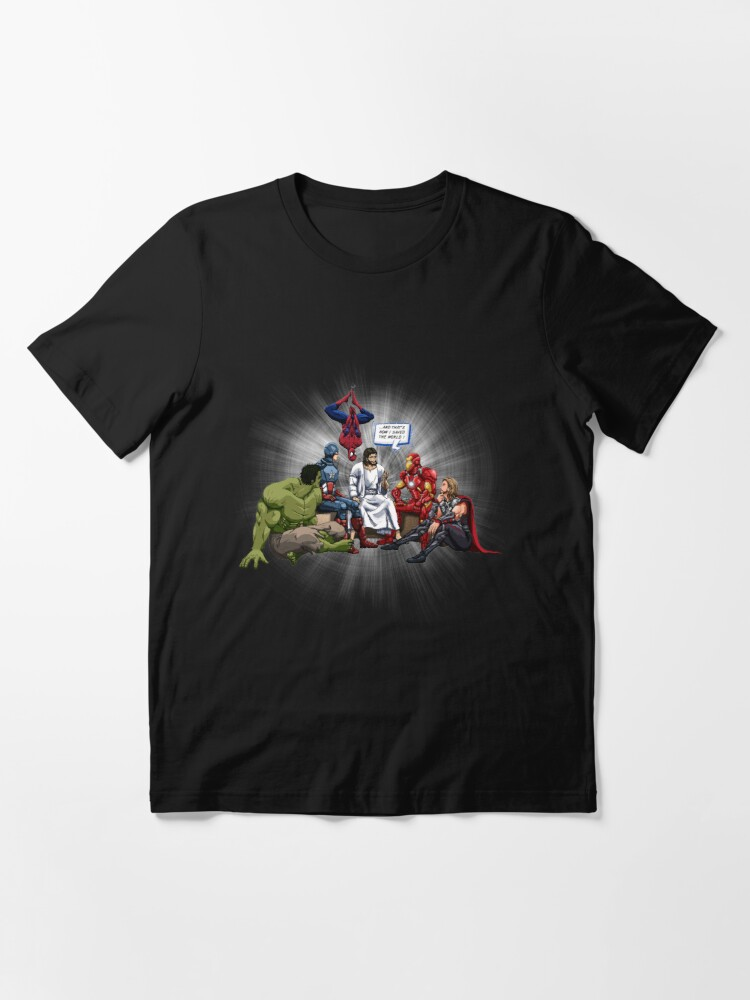 Alternate view of AND THAT'S HOW I SAVED THE WORLD ! JESUS 2019 Essential T-Shirt