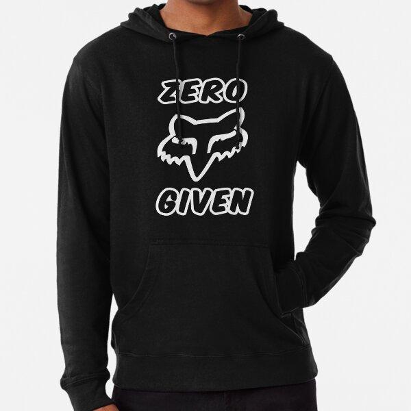 Zero Fox's Given Funny Motocross Dirt Bike Mountain Biking Jet Skiing and ATV Quad Biker Gift Lightweight Hoodie