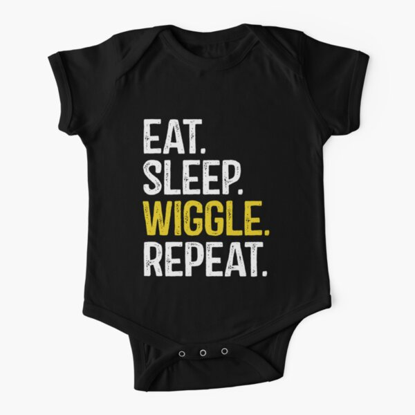 Eat Sleep Wiggle Repeat Short Sleeve Baby One-Piece
