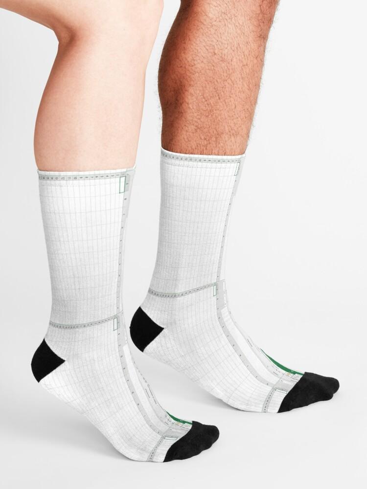 Alternate view of Excel spreadsheet Socks